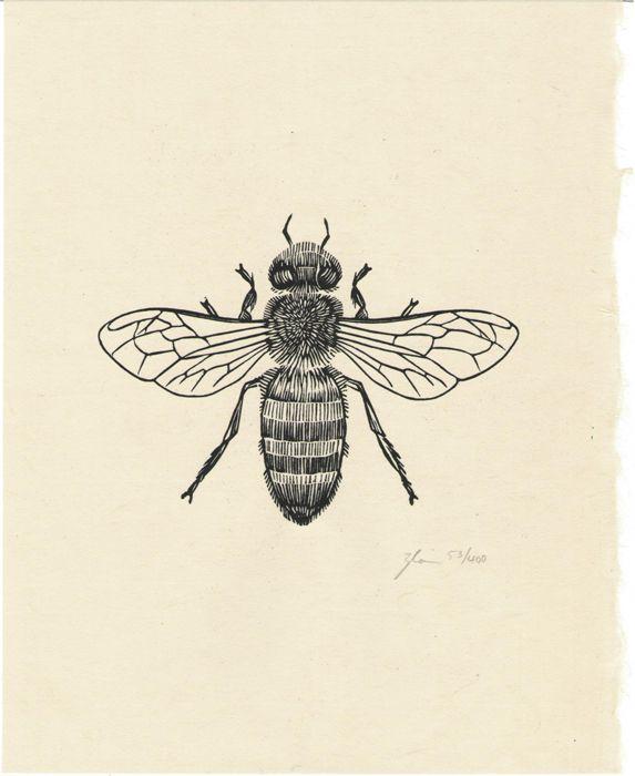 Honey Bee (edition/400), 8 x 10 / $20 (printed on handmade Japanese kozo paper)