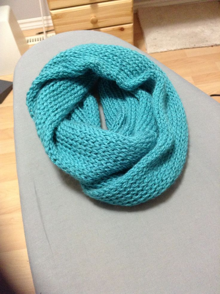 Loom Knitting Infinity Scarf Patterns : Infinity scarf made on a knitting loom Crochet knit YARN Pinter?