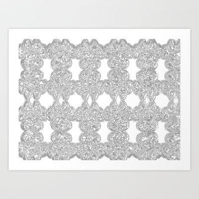 PAWHROMA GREY Art Print by kikiLURVE - $20.48
