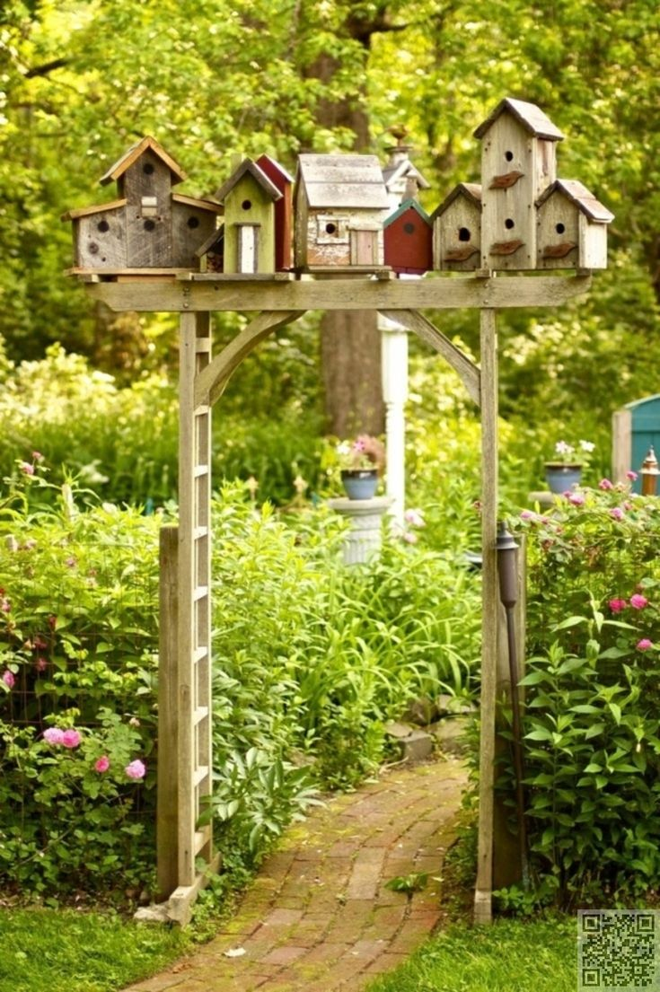 Pathways amp steppers sisson landscapes - Birdhouse Village Garden Arbor I Just Have To Do This In My Backyard Gardening For Life