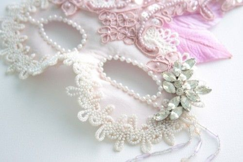 I've always though, if one had a big wedding, a masquerade wedding reception would be amazing.