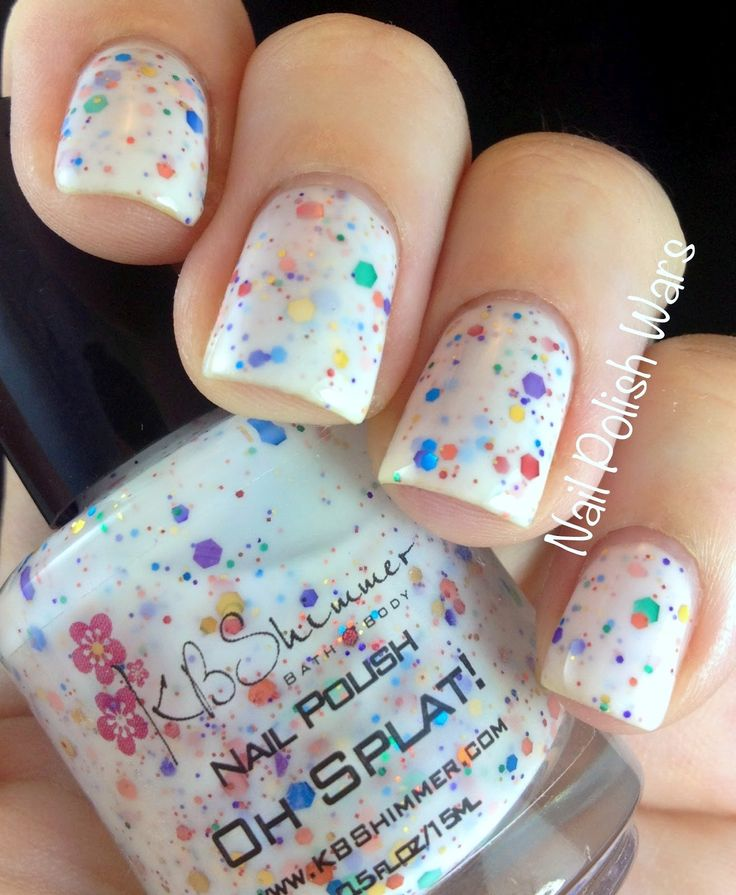 in LOVEConfetti Nails, Nails Art, Paint Splatter, Painting Splatter, Nail Polish, Nailpolish, Paint Nails, Splatter Nails, Nails Polish Colors