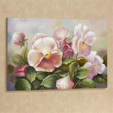 Plenty of Pansies Floral Canvas Art