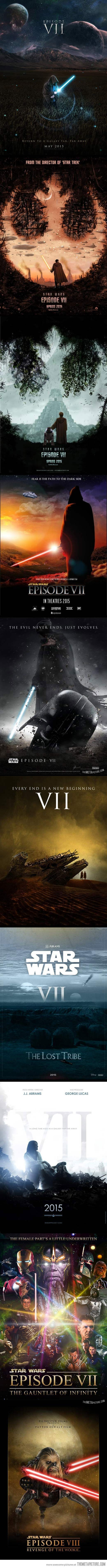 Star Wars VII Fan Made Posters… I was caught off guard by the Marvel one.