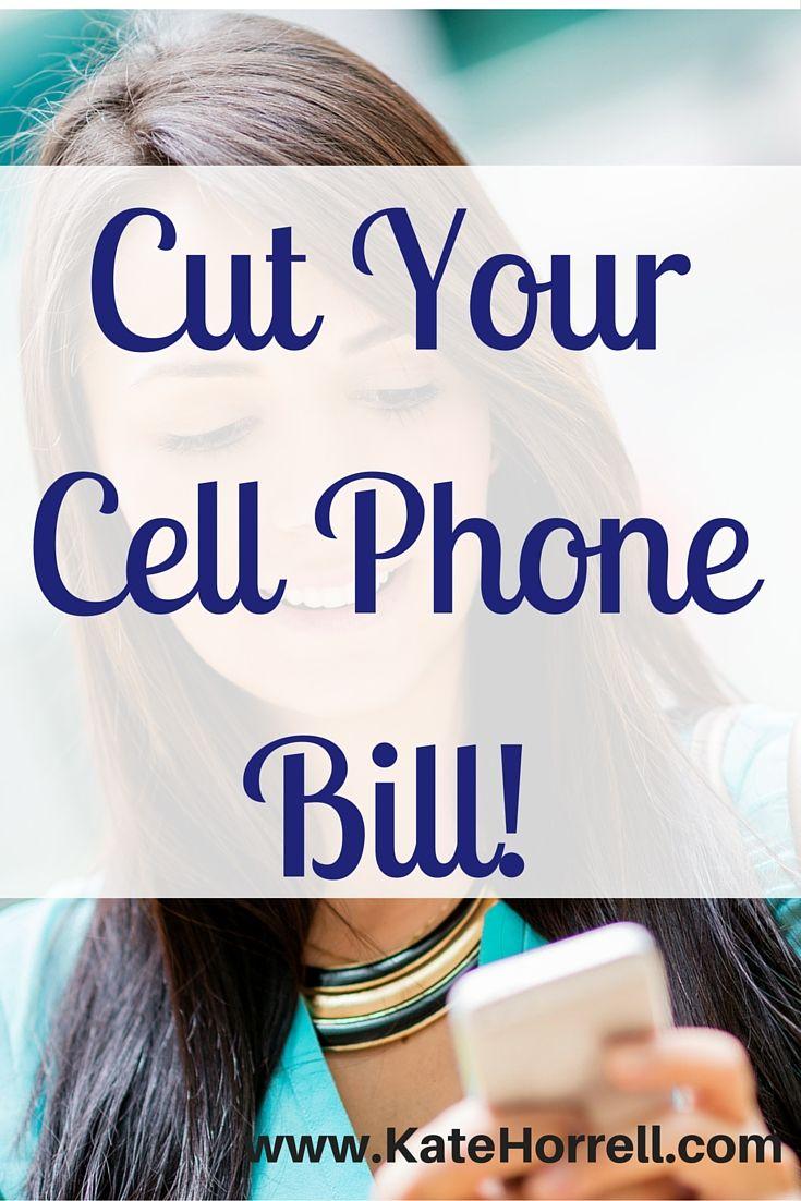 Cutting Cell Phone Bill