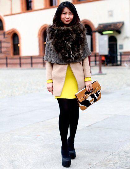 Milan Fashion Week Street Style Autumn Winter 2013 | ELLE UK #streetstyle #ootd #fashionblogger #love #weheartit #polyvore #vintage #vintagedress #boho #grunge #style #trend #beauty #indie #hipster #thriftshop #cool #lookbook #fashion #dress #hair #makeup #shoes #model