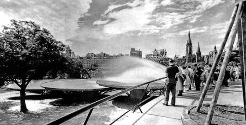 Make Blog: The Lost Ones (IV)...Before Hamer Hall arrived on the edge of the Yarra next to the Arts Centre there was Robin Boyd's fountain in what was then called Snowden Gardens. The fountain was designed in 1957 and constructed in 1960.