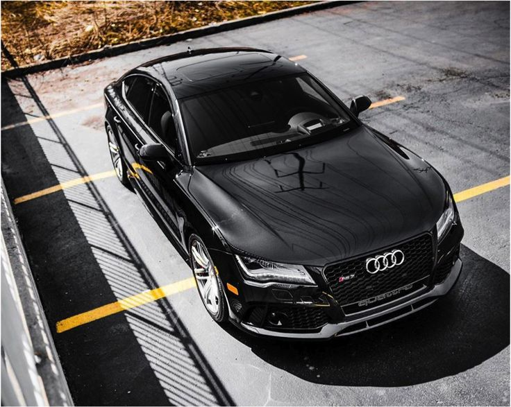 The Audi RS7 gives a stunning pose from every angle.  #Audi #RS7 #stunning #black