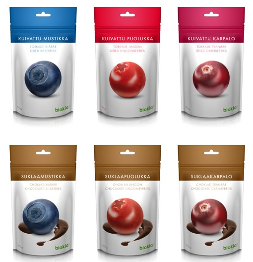 Best candy: dried berries (in chocolate).  http://www.biokia.fi/tuotteet/