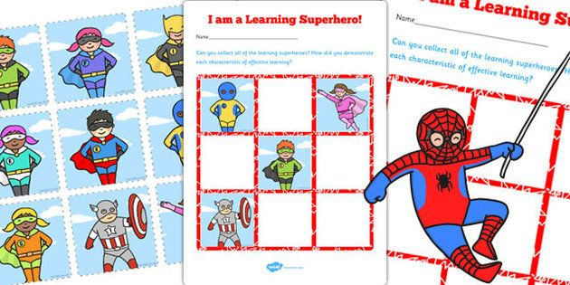 Reward your super learners with the Learning Superheroes Chart - twinkl