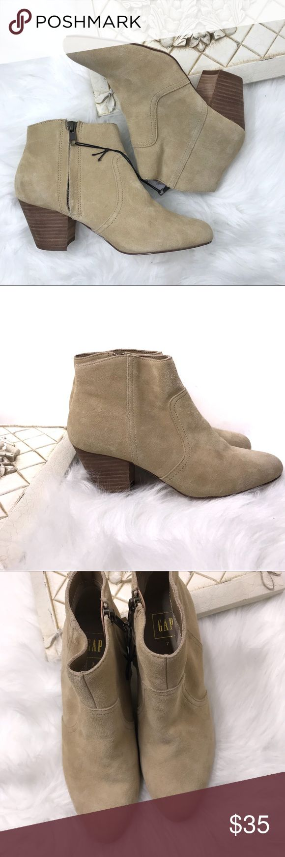 """GAP Short Khaki Booties / Ankle Boots  Size 7 GAP Short Khaki Booties / Ankle Boots  Size 7  Shoes are in new condition. Please see all images. Heel height is 2.5"""" GAP Shoes Ankle Boots & Booties"""
