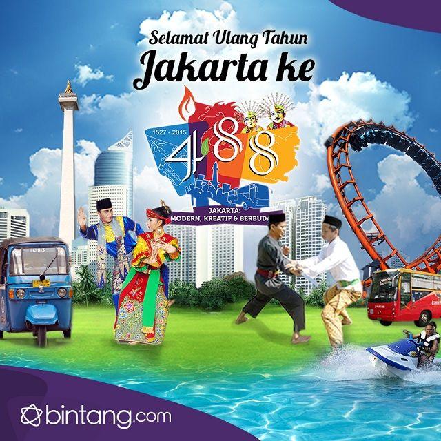 HUT Jakarta ke-488 Bintang.com Indonesia