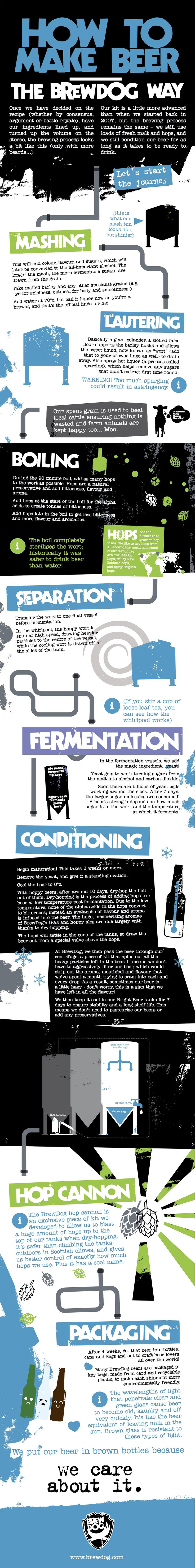 INFOGRAPHIC: How to make beer the BrewDog way!