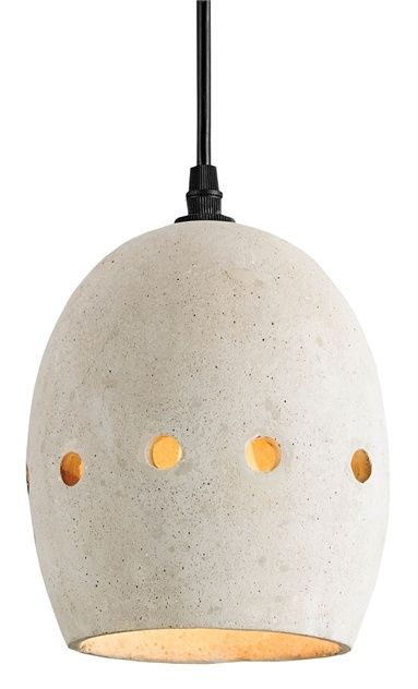 kinda digging the earthenware cement look to this pendant // mid mod lighting