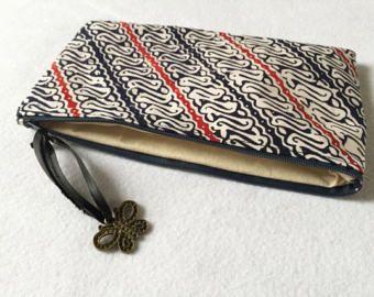 Batik Garutan Zipper Pouch
