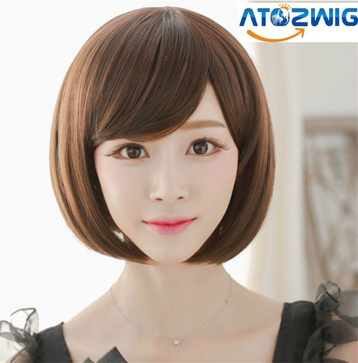 ATOZ Hair Lolita Cosplay Wig Party Women Fashion Short Straight Costume Synthetic Hair Sexy Bob Wigs >>> This is an Amazon Affiliate link. More info could be found at the image url.