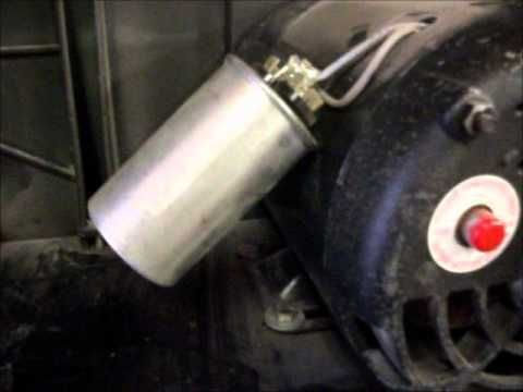 ▶ Air compressor motor and capacitors. - YouTube
