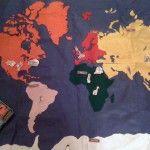 DIY felt world map with free label downloads