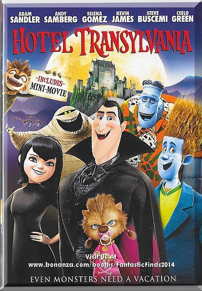 Welcome to the Hotel Transylvania, Dracula's lavish five-stake resort, where monsters and their families can live it up, free to be the monsters they are without humans to bother them. On one special weekend, Dracula has invited some of the world's most famous monsters - Frankenstein and his wife, the Mummy, the Invisible Man, a family of werewolves, and more - to celebrate his daughter Mavis's 118th birthday. Only $7.59 with Free Shipping!