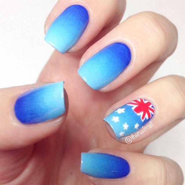 Australia Day nails 2015 via instagram.com/thenailtrail