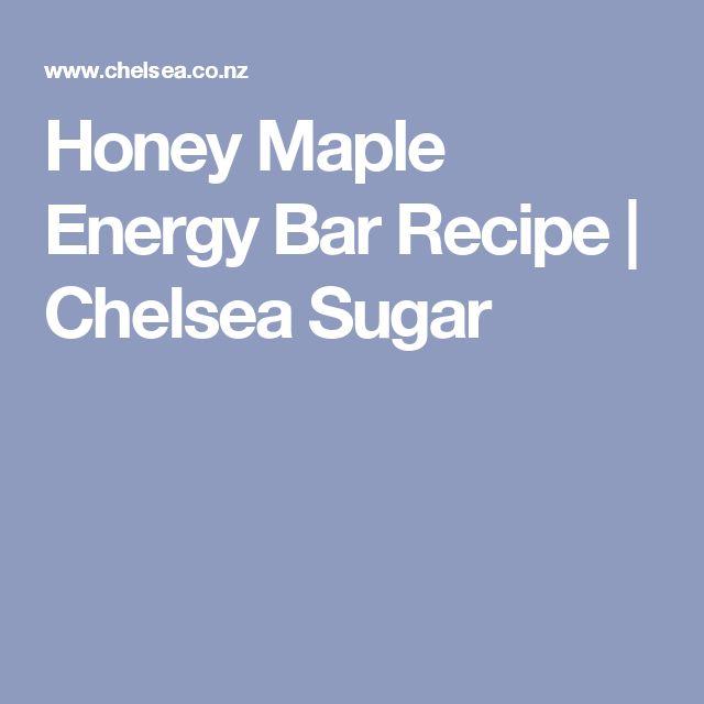 Honey Maple Energy Bar Recipe   Chelsea Sugar