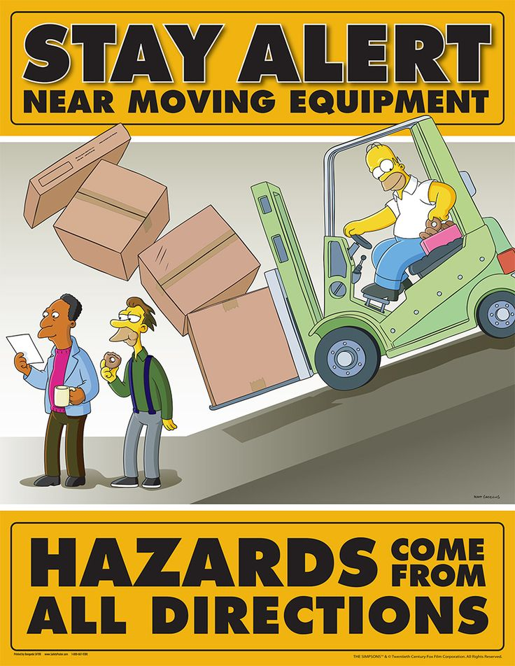 Personal Protective Equipment (PPE) Safety Posters - Simpsons Equipment Safety S1118 - Safety Poster