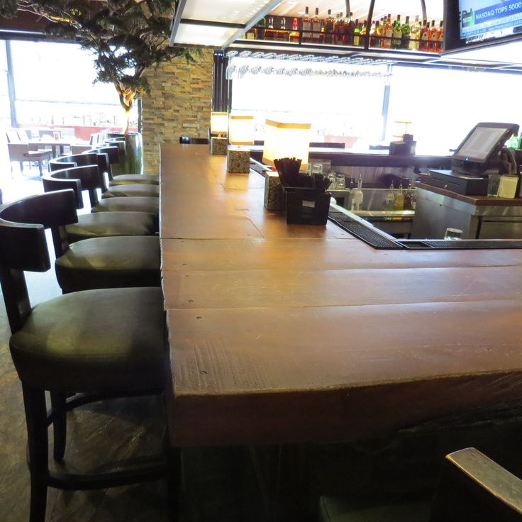 Product: JM Lifestyles woodform concrete countertop - Project name: Ipic theater in Boca Raton, FL