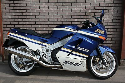 Kawasaki Zx10 Zx10r 1989 Blue And White Classic Sports Jpg