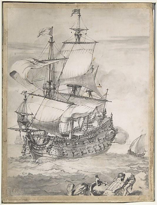 """""""Vaisseau de ligne"""", by Pierre Puget"""