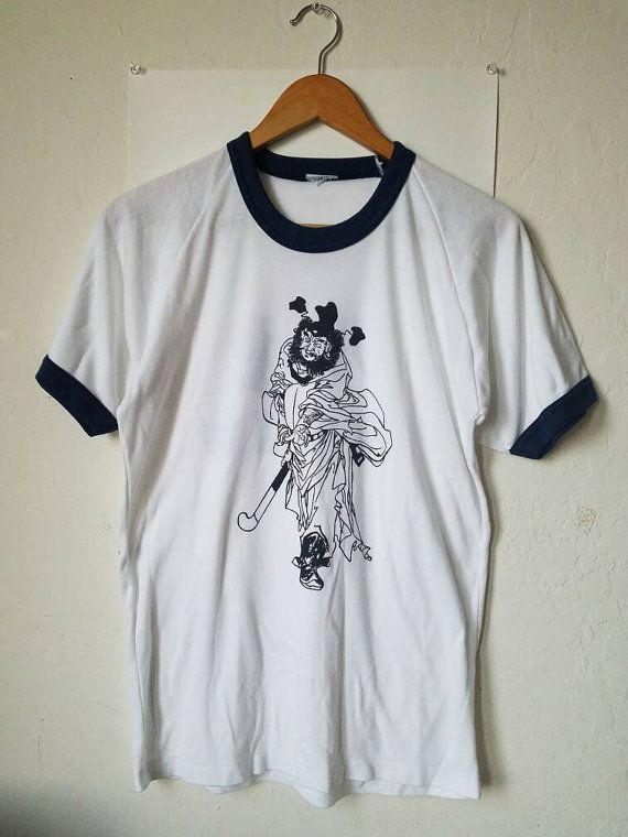 b5a895b8 Vintage Chinese Warrior T Shirt with characters | Birthday ...