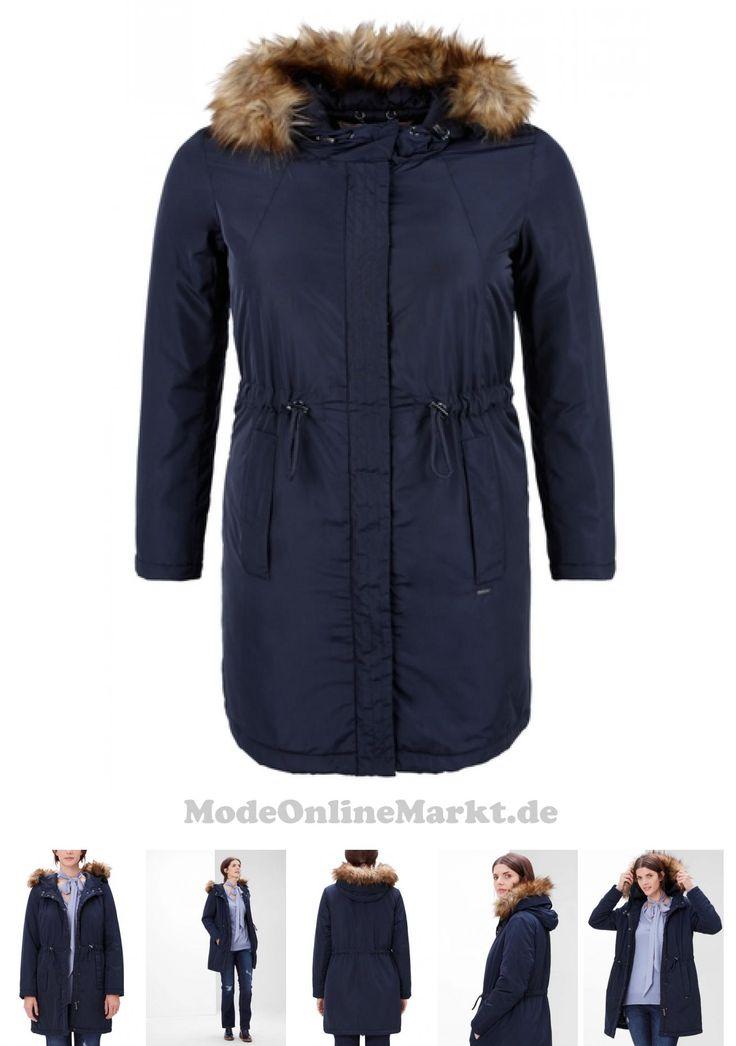 04057666728560 | #TRIANGLE #Damen #Wintermantel mit #Fake #Fur-Kapuze #blau