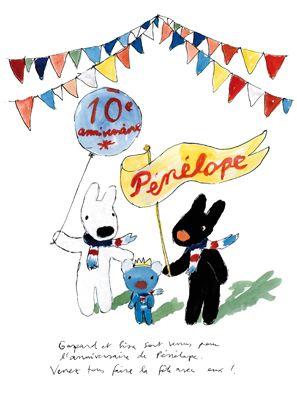 「ぺネロぺ」と「リサとガスパール」がコラボレーション お知らせ 「Penelope tete en l'air」の公式サイト