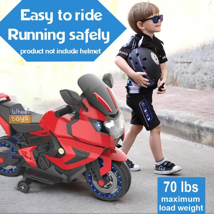 Kids Electric Motorcycle Power Wheels Motorcycle 12v 2 Wheels Ninos Juegos