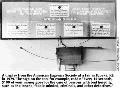 "Alan Stoskepf's ""The Forgotten History of Eugenics"""