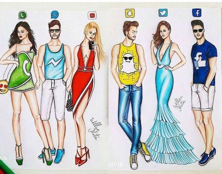 Картинки для срисовки соцсети в виде людей