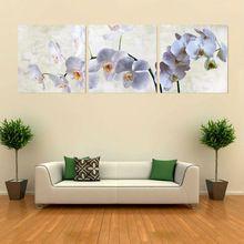 3 panel duvar sanatı güve orkide resmi yağlıboya tuvalinin çerçeve soyut baskı ev modern dekorasyon çerçeveli sanat(China (Mainland))