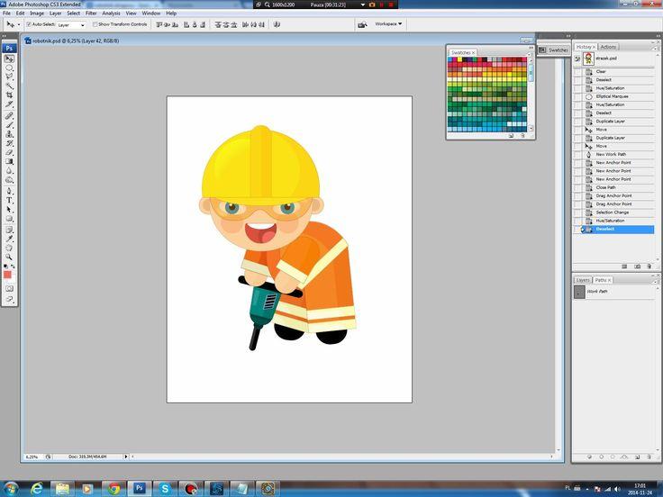 Illustrating drawing painting - cartoon worker