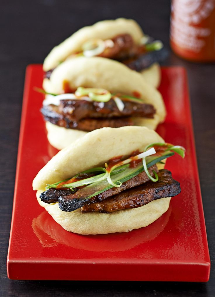 Sweet, pillowy Hirata buns are popping up on menus all over at the moment. Try this on-trend recipe at home with our step-by-step guide. The secret to steamed buns is adding extra raising agent and double rising, which gives you a pillowy bun to stuff your pork belly into.