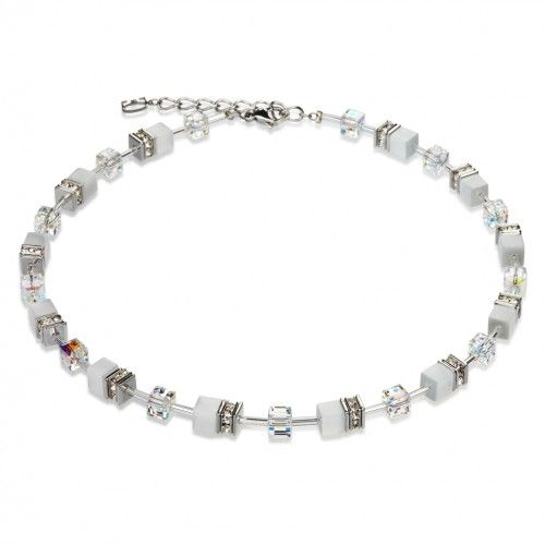 Buy this stunning cubed white necklace by Coeur de Lion, winner of Jewellery Brand of the Year 2015, from authorised retailer Jools. £119 with free UK delivery http://joolsjewellery.co.uk/shop/coeur-de-lion-white-necklace/