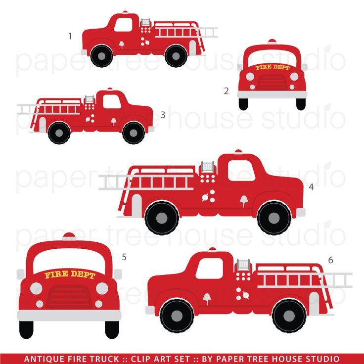 Vintage Fire Truck Clip Art
