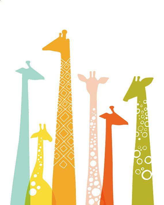 Quinn's room! Colors match her wallpaper perfectly.: Wall Art, Giraffe Print, Art Paper, Fine Art, Baby, Animal, Giraffes, Kids Rooms