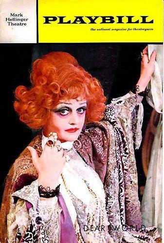 angela lansbury dear world broadway play   Dear World Playbill with Angela Lansbury, 1969