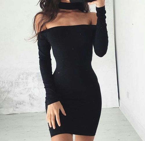 New Women Off Shoulder Stretch Tunic Tight Fitted Club wear Party Sexy Mini…