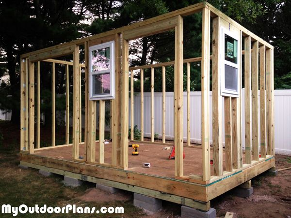 Diy Backyard Storage Shed With Ramp And Steps Outdoor