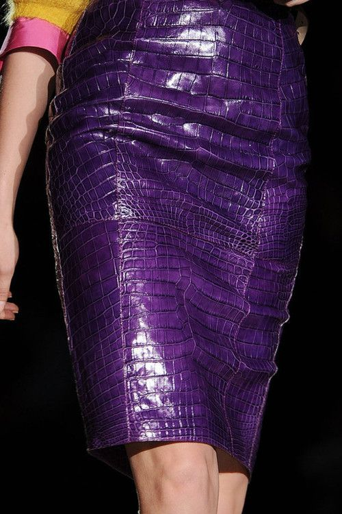 Dsquared2 - Fall 2012 purple leather skirt