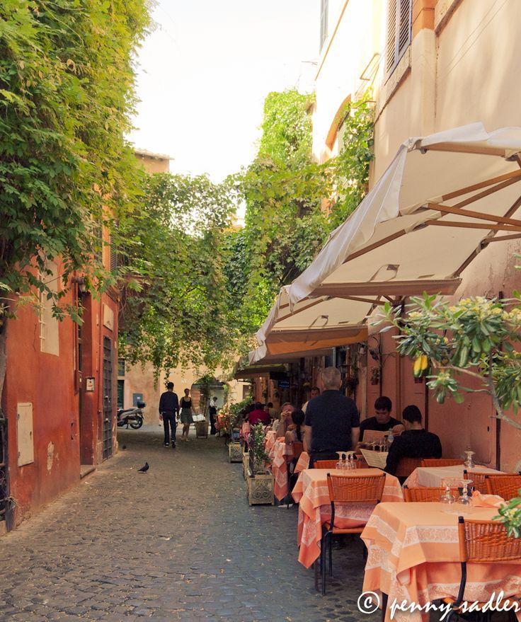 Postcard: Vicolo del Piede, Trastevere, Rome