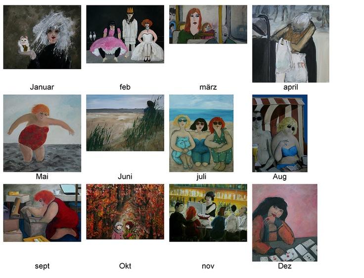 Fotos von neuen Bildern, auf weißem Fotokarton, getitelt m. Bleistift
