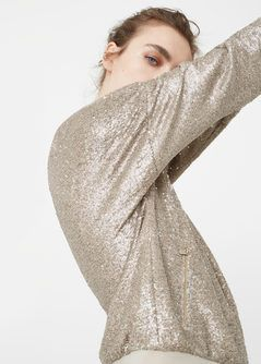 Sequined bomber