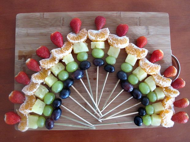 JEWELPIE- Rainbow Fruit Skewers