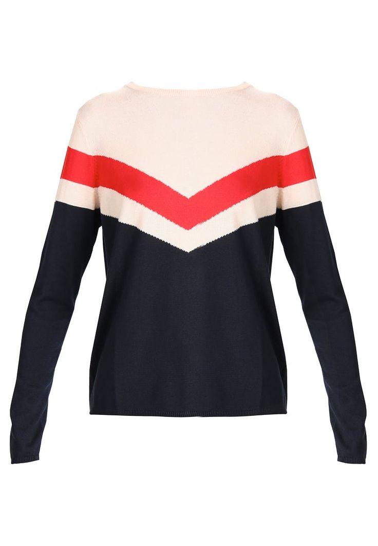 Vêtements ONLY ONLGABRIELLA  - Pullover - cream tan/highrisk red/sky captain beige: 24,95 € chez Zalando (au 24/10/17). Livraison et retours gratuits et service client gratuit au 0800 915 207.